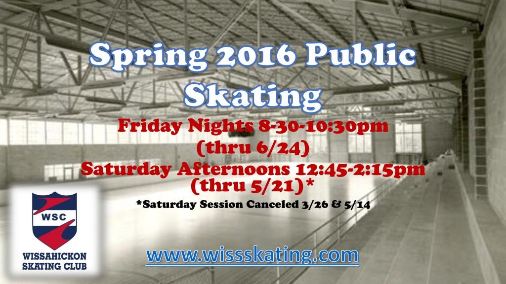 2016 SPRING PUBLIC SKATING