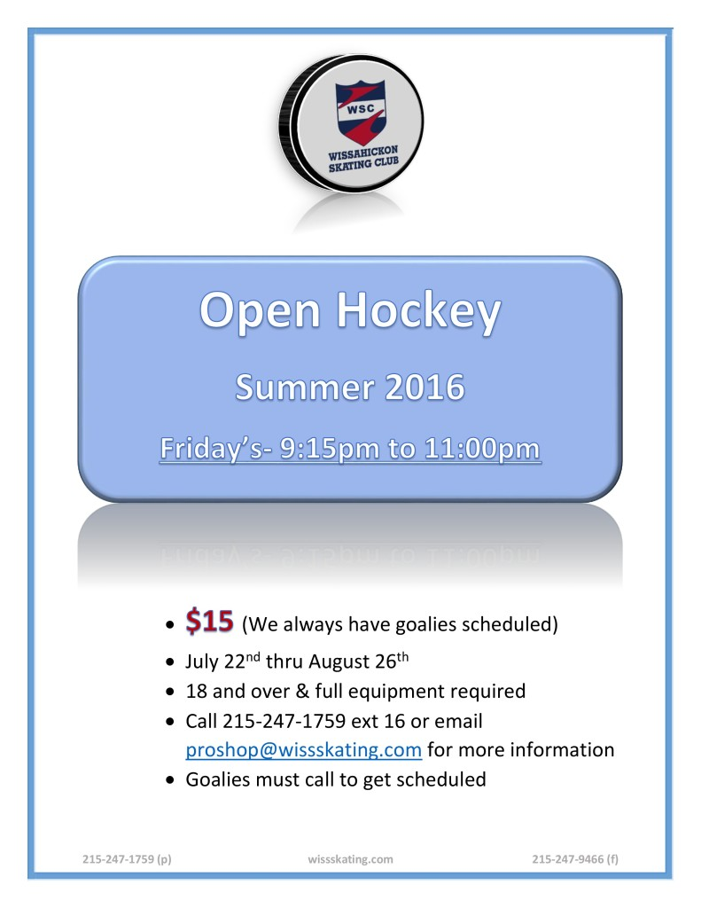2016 SUMMER OPEN HOCKEY